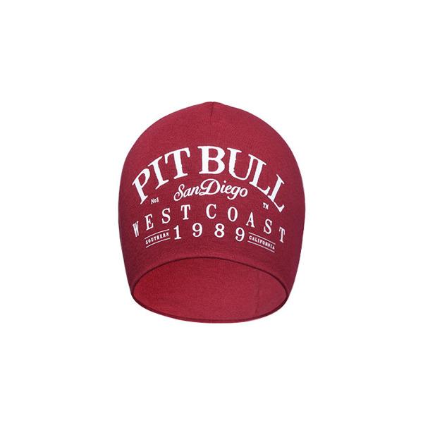 Czapka Pit Bull Beanie OLSCHOOL Burgundowa