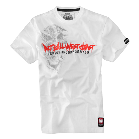 Pit Bull Koszulka TERROR SKULL Biała