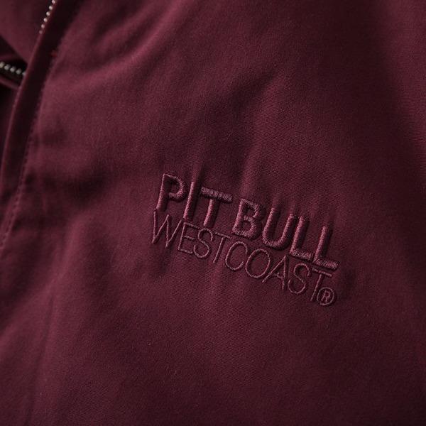 Pit Bull Kurtka przeciwdeszczowa BIRDROCK II Bordowa bez kaptura