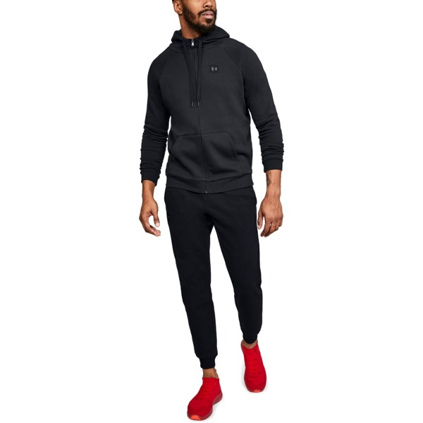 Under Armour Bluza z kapturem RIVAL FLEECE FZ HOODIE Czarna