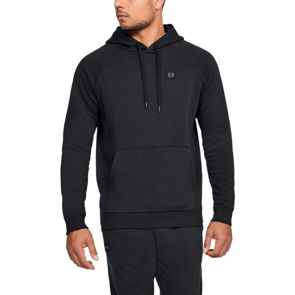 Under Armour Bluza z kapturem RIVAL FLEECE PO HOODIE Czarna