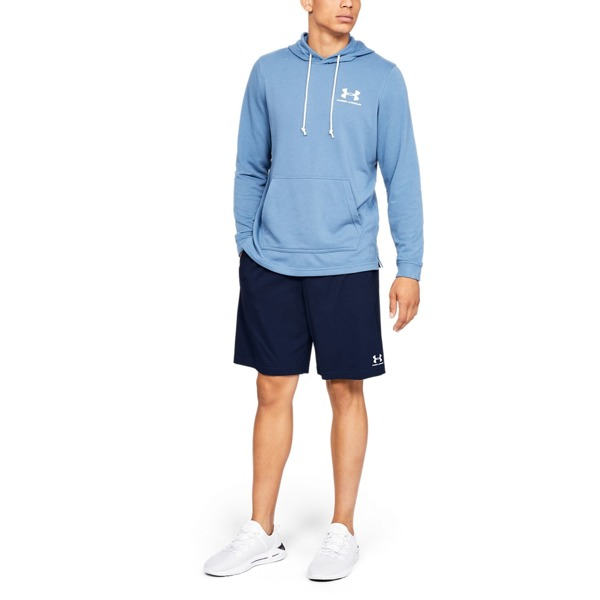 Under Armour Spodenki SPORTSTYLE COTTON SHORT Granatowe