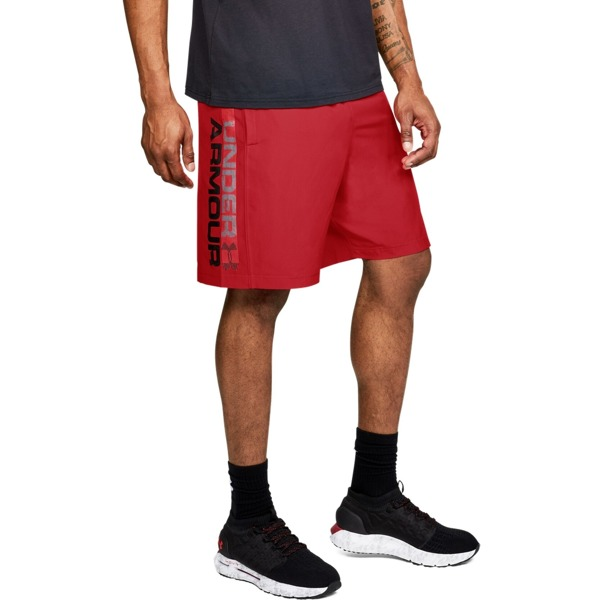Under Armour Spodenki WOVEN GRAPHIC WORDMARK SHORT Czerwone